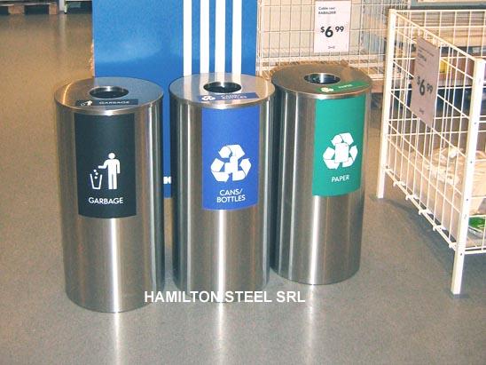 Contenedores de reciclaje hamilton steel srl for Pilas de acero inoxidable